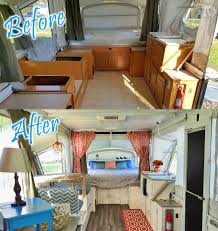 before after this is my pop up renovation on a 2003 coleman