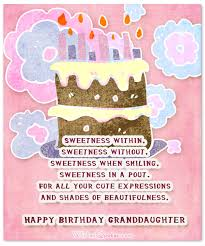 Sweet Birthday Cards Sweet Birthday Wishes For Granddaughter