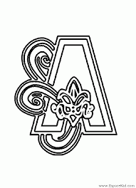 Coloriage Lettre A à imprimer dans les coloriages Lettrine 2