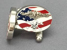us navy submariner cufflinks gold or silver