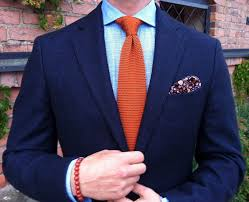 What Colors Go With Burnt Orange Orange Knit Tie Navy Jacket Wedding Suits Pinterest Knit Tie