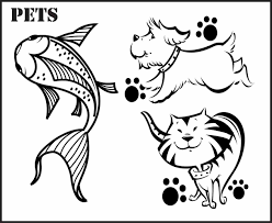 page dogs cats printable of dogs coloring pages of pets and cats