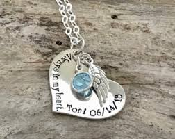 Personalized Memorial Necklace Sister Of An Angel Necklace Personalized Memorial Remembrance