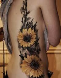 rib side cover up with outstanding yellow flower