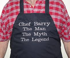 the the myth the legend personalized apron a gift to treasure