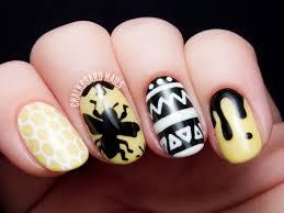 busy bee freehand gel nail art for cosmoprof 2014 chalkboard