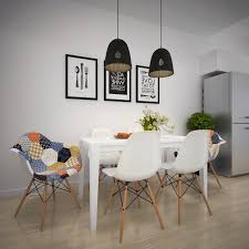 dining room table lighting white saddle mixed light brown wooden table scandinavian dining