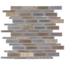allen roth river bank linear mosaic porcelain slate wall tile