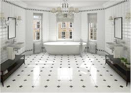 black and white diamond tile floor