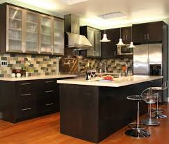 high gloss paint for kitchen cabinets handles wall mounted wooden storage dark brown wood cabinet high