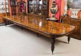 Extending Wood Dining Table Huge Bespoke Handmade Marquetry Walnut Extending Dining Table 18