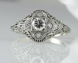 1920s engagement rings diamond filigree engagement ring