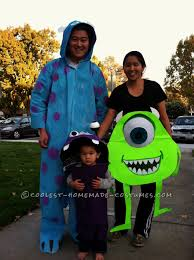 Newborn Family Halloween Costumes by Coolest Monsters Inc Family Costume Boo Sully Mike And Mike U0027s
