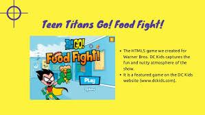teen titans food fight
