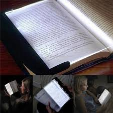 amber led book light portable plate novelty eye protect led reading book flat panel
