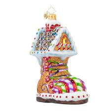 radko 1017804 sugar foot gingerbread boot house ornament new