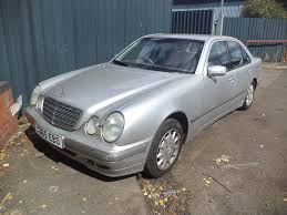 2000 mercedes benz e class 2 6 petrol 4 door saloon in silver
