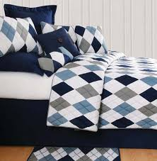 Navy Blue And Gray Bedding Argyle Blue Bedding Oceanstyles Com