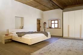Schlafzimmer Naturholz Zirbe Bett Kleiderschrank Massivholz Forcher Tirol Bed