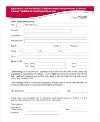 insurance waiver form template beautifuel me