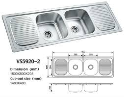 Kitchen Double Sink Dimensions Ideasidea - Kitchen sink double bowl double drainer