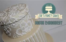 how to brush embroidery cake decorating how to tutorial zoes