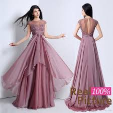 100 real image mauve 2015 a line party dresses with sheer