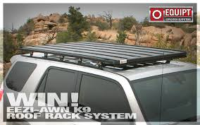 Ezi Awn Equipt U0027s Eezi Awn K9 Roof Rack And Shade 2 Meter Awning Give Away