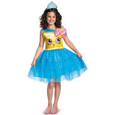 shopkins cupcake queen girls costume medium 7 8 walmart com