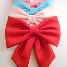 bow for hair big satin fabric hair bow large hair bow big bow ret