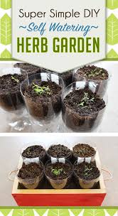 How To Make A Self Watering Planter by Super Simple Diy Self Watering Herb Garden