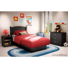 Distressed Black Bedroom Furniture by South Shore Libra 3 Piece Pure Black Twin Kids Bedroom Set 3070223