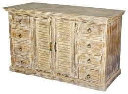 rustic distressed wood 8 drawer sideboard storage cabinet rustic