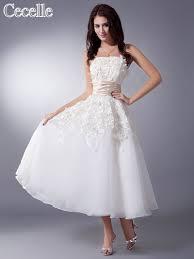 online get cheap tea length champagne wedding dresses aliexpress