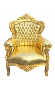 Big Armchair Big Baroque Style Armchair Gold Faux Leather And Gold Wood