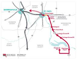 Metro Green Line Map by Corridor Red Rock Corridor