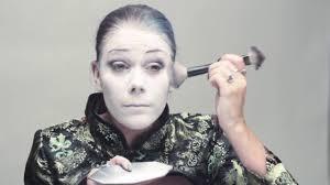 sarathustras gothic makeup tutorial white foundation youtube