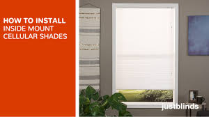 how to install inside mount cellular shades justblinds com video