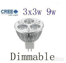 best dimmable mr16 9w 3x3w cree high power led spot light bulb
