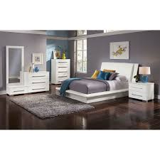 Dimora Piece Queen Upholstered Bedroom Set White American - 7 piece bedroom furniture sets
