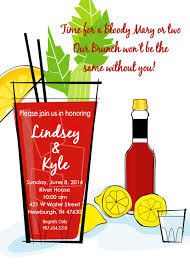 brunch invitation drinks blood mary wedding brunch