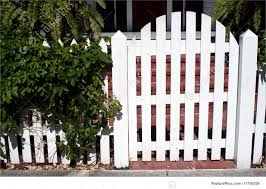 picket fences picture of white picket fence gate
