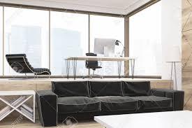 bureau ville la grand gros plan d un grand canapé dans le bureau de pdg en grande ville