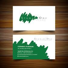 elegant serious business card design for studio one architecture