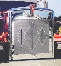 kenworth accessories canada double and triple diamond grill inserts u2013 roadworks manufacturing