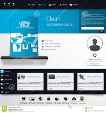 blue business website template home page design clean and