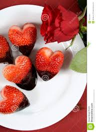 White Chocolate Covered Strawberry Box Valentines Day Chocolate Dipped Heart Shaped Strawberries Closeup