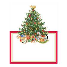 oh tree die cut place cards 8 per package caspari
