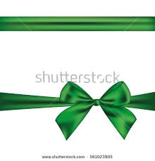emerald green ribbon green ribbon bow isolated on white stock vector 561023905