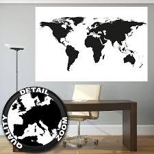carte monde noir et blanc affiche xxl de la carte du monde comme une carte de décoration